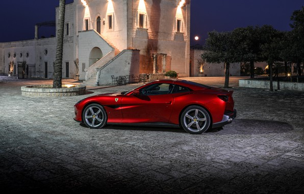 Картинка Ferrari, вид сбоку, 2018, Portofino
