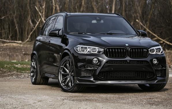 Фото обои BMW, Black, X5M, Sight, F85
