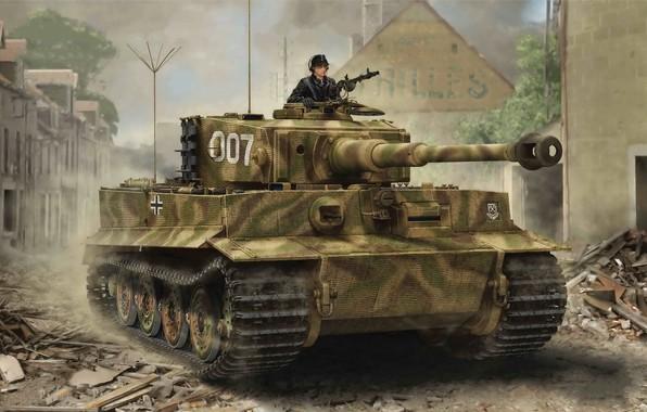 Картинка Tiger I, Late Production, Война в Европе, World war II