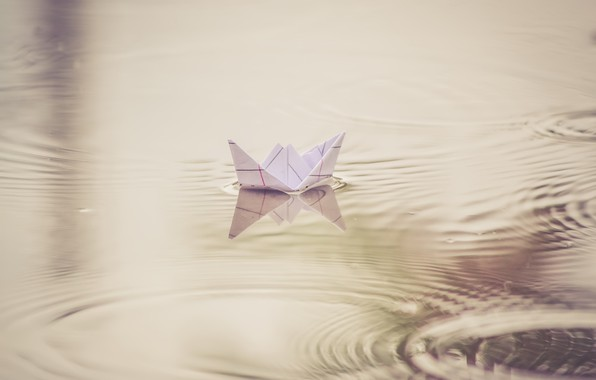 Картинка вода, бумага, кораблик