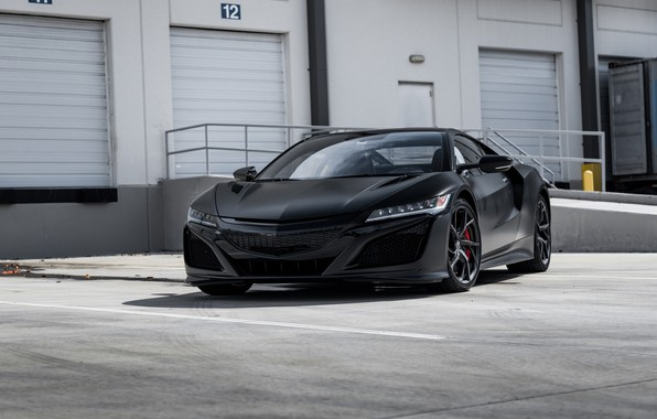 Картинка Honda, Black, Acura, NSX, Sight, LED