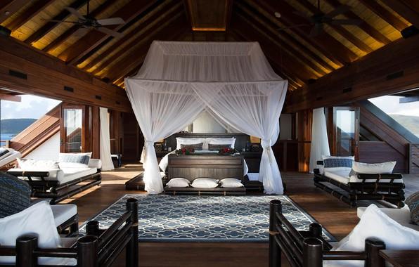Картинка вилла, интерьер, жилая комната, Luxury Villa, Necker Island