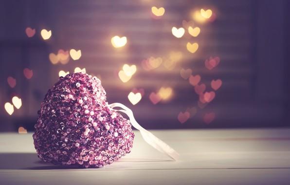 Картинка любовь, сердце, сердечки, love, heart, pink, romantic, bokeh