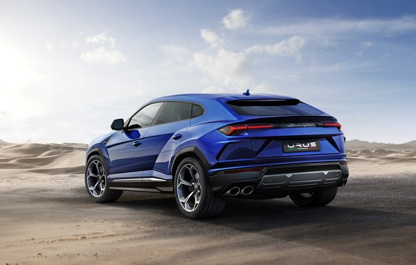 Картинка Lamborghini, вид сзади, 2018, Urus, Off Road