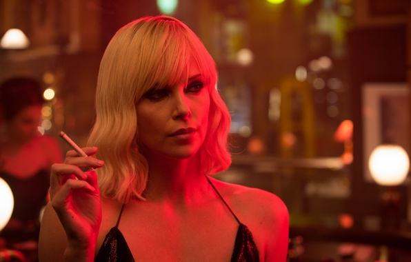 Картинка Charlize Theron, cinema, woman, movie, face, blonde, film, Atomic Blonde