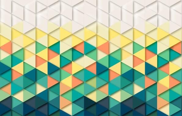 Картинка абстракция, фон, треугольники, Обои, геометрия, background