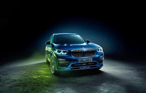 Фото обои Alpina, BMW, background, черный фон, XD3, бмв, G01, Allrad