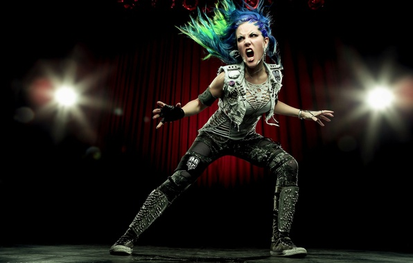 Картинка singer, pose, Arch Enemy, Alissa White-Gluz