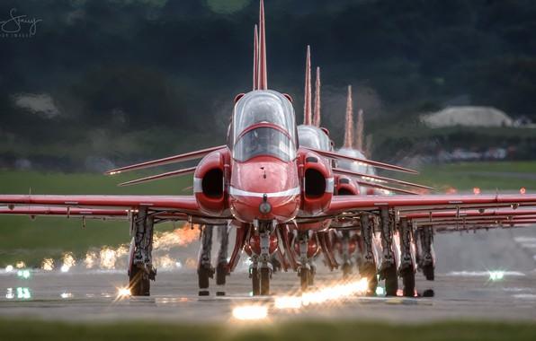 Картинка шоу, самолёты, Red Arrows