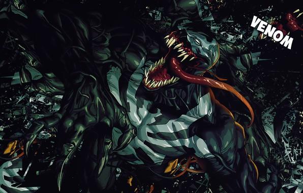 Картинка Язык, Зубы, Комикс, Когти, Marvel, Comics, Веном, Venom, Симбиот, Марвел, Комиксы, Eddie Brock, Symbiote, Teeth, …