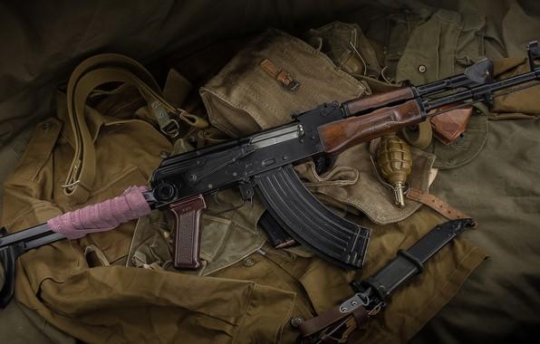 Картинка оружие, автомат, weapon, АКМ, assault Rifle