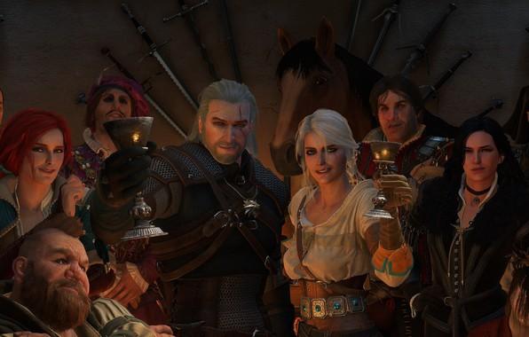 Картинка Ведьмак, The Witcher, Геральт, CD Projekt RED, The Witcher 3: Wild Hunt, Geralt, Ведьмак 3: …