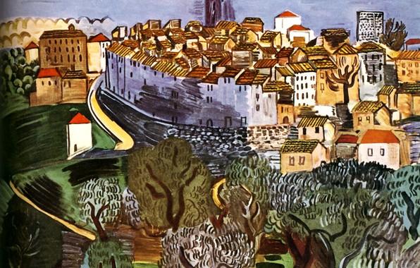 Картинка 1923, Nice, Huile sur Toile, MusВe MassВna, Raoul Dufy Vence
