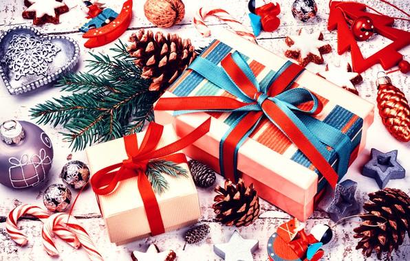 Картинка украшения, елка, Новый Год, печенье, Рождество, подарки, happy, Christmas, шишки, New Year, Merry Christmas, Xmas, …