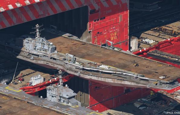 Картинка корабль, ангар, док, обслуживание, Air carrier facility