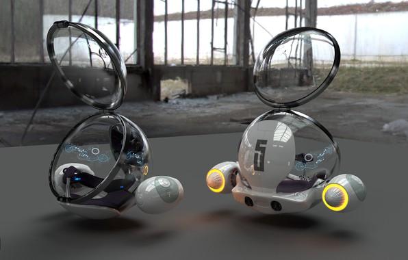 Картинка машина, фантастика, техника, Egg, Glenn Melenhorst