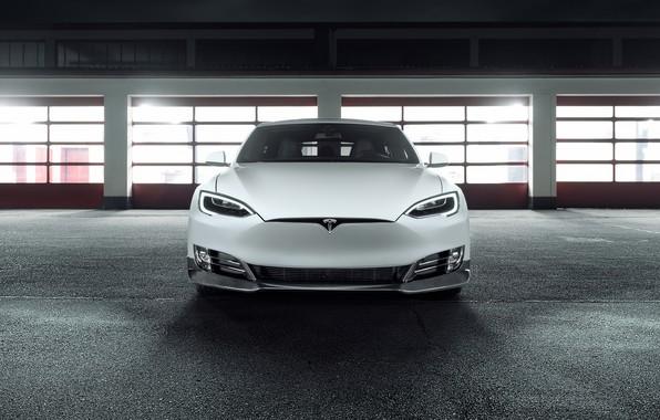 Картинка вид спереди, Tesla, Model S, Novitec, 2017