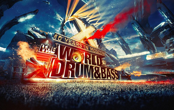 Картинка сцена, концерт, арена, зрители, the WORLD of DRUM & BASS 2017