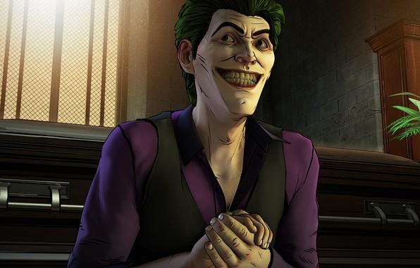 Картинка Игра, Улыбка, Джокер, Зубы, Smile, Joker, Злодей, Game, DC Comics, Telltale Games, Зеленые волосы, Комиксы, …
