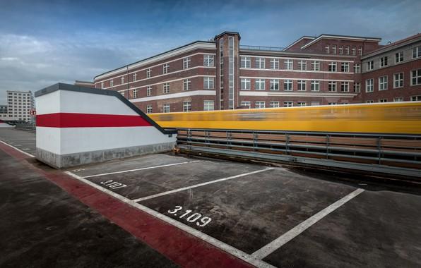 Фото обои город, поезд, Berlin