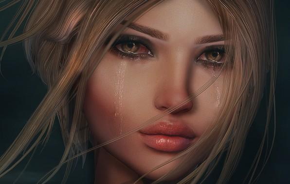 картинки девушка и слезы