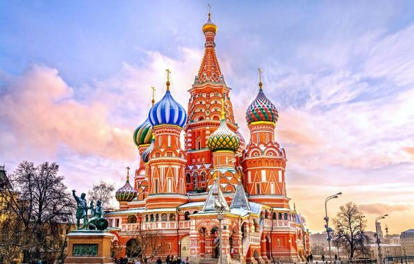 Картинка небо, церковь, Россия
