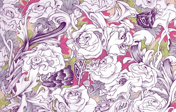 Картинка цветы, абстракция, фон, текстура