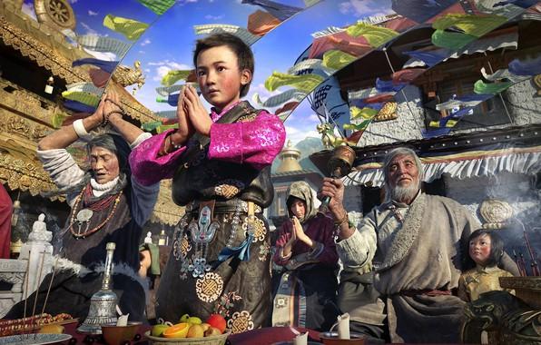 Картинка праздник, арт, Pilgrimage, xiao D