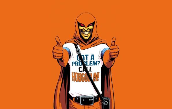 Картинка spider-man, арт, злодей, Marvel, комикс, comics, наемник, Hobgoblin, Хобгоблин