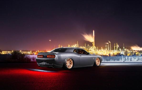 Картинка Dodge, Challenger, Car, Rear, Avant Garde Wheels