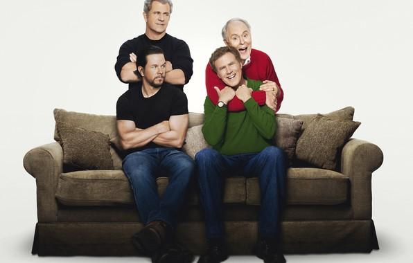 Картинка папа, Марк Уолберг, Mark Wahlberg, Мэл Гибсон, Mel Gibson, Dusty, Уилл Феррелл, Will Ferrell, Brad, …