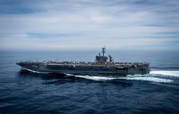 Картинка армия, флот, aircraft carrier, USS Theodore Roosevelt, CVN 71
