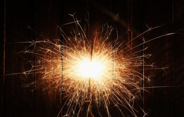 Картинка фон, искры, огонек, бенгальский огонь