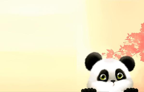 Картинка арт, мишка, панда, детская