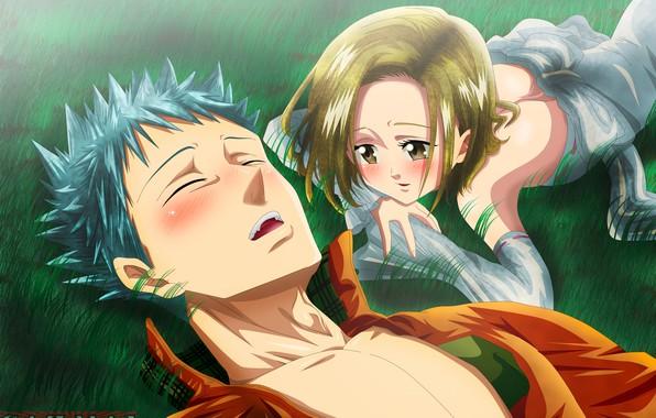 Картинка аниме, арт, Nanatsu no Taizai, Семь смертных грехов, Бан, Элейн