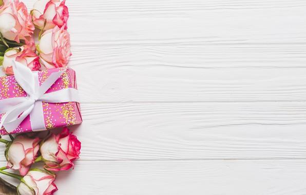 Картинка Цветы, Розы, Праздник, Подарок