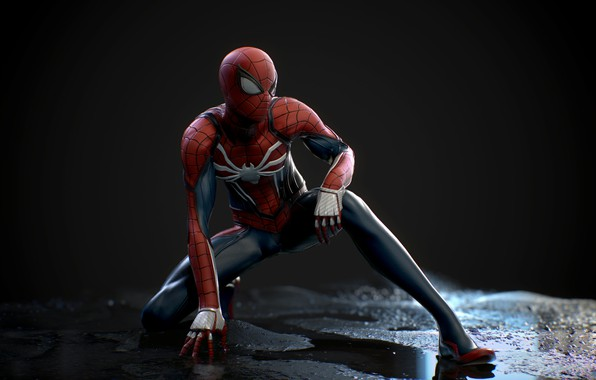 Картинка Игра, Костюм, Герой, Маска, Супергерой, Hero, Marvel, Человек-паук, Game, Comics, Spider-Man, Peter Parker, Питер Паркер, …