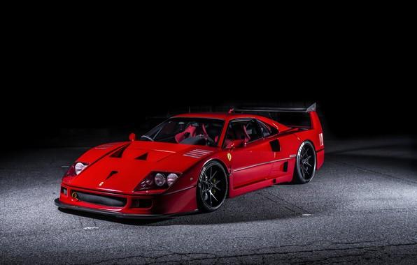 Фото обои Hyperforged, Ferrari, F40, AutoPlazaDank