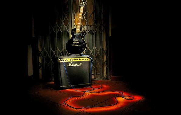 Фото обои гитара, фон, музыка