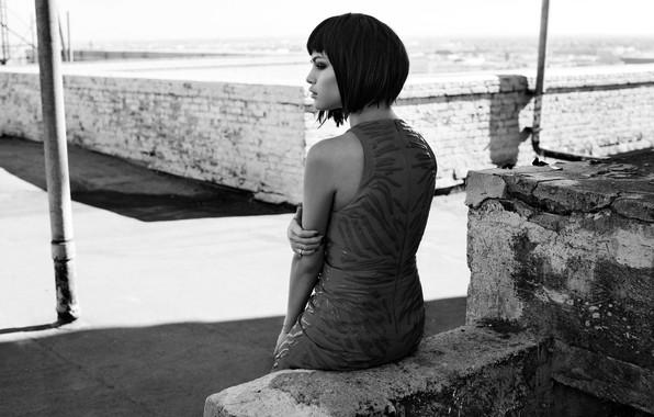 Картинка актриса, черно-белое, певица, знаменитость, Selena Gomez