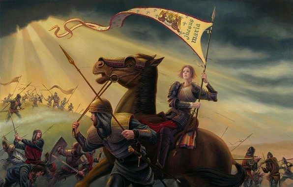 Картинка 2003, Дуглас, Аллен, Святая Жанна д'Арк в войне с англичанами