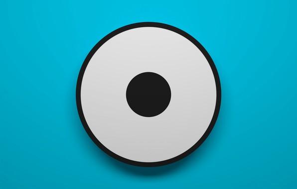 Картинка глаз, фон, круг, кольцо, цилиндр