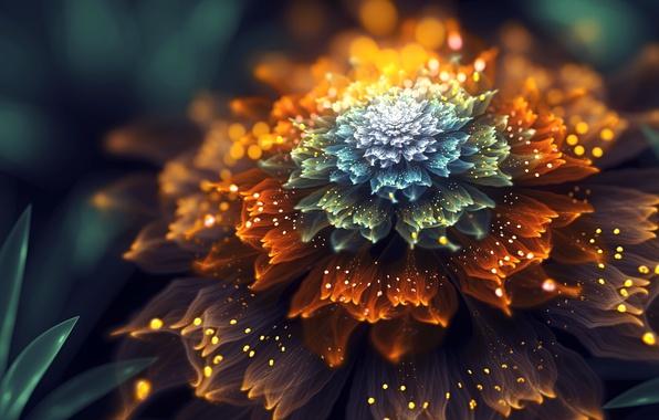Фото обои цветок, фрактал, by SallySlips
