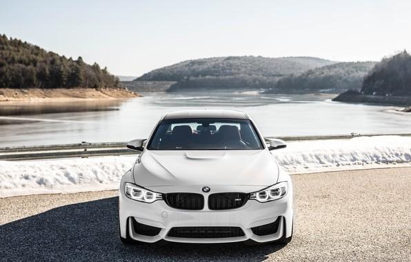 Картинка BMW, Front, White, F80