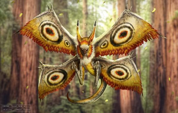 Картинка чудовище, creature sketch, Mothbat