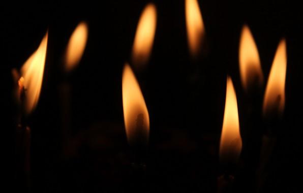 Картинка фон, огонь, свечи