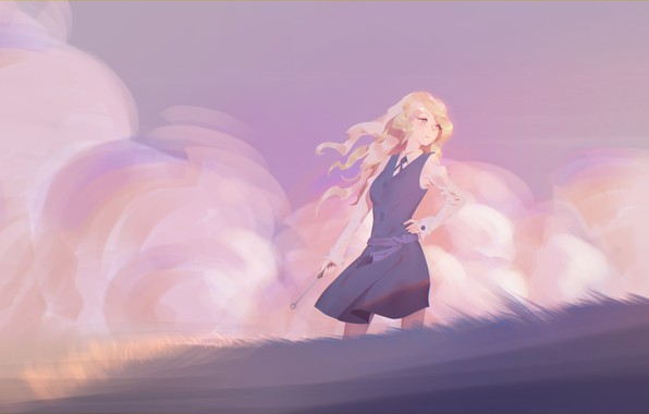 Картинка девушка, аниме, арт, форма, maredoro, little witch academia, diana cavendish