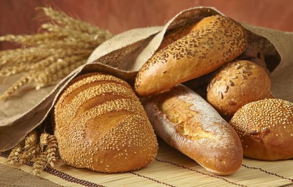 Картинка колоски, хлеб, выпечка, булка