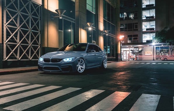 Картинка BMW, Car, Front, Wheels, Rohana, M3