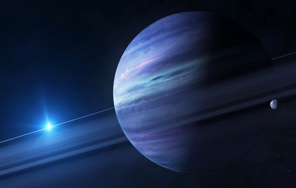 Картинка планета, спутник, Юпитер, солнечная система